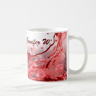 Copo de café do respingo do Cranny com monograma Caneca De Café