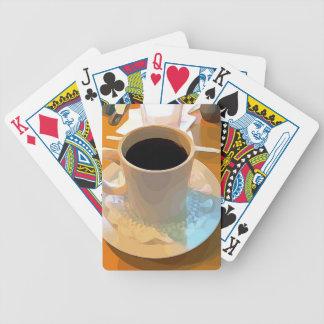 Copo de café jogo de carta