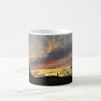 Copo de café novo do por do sol do rio/caneca caneca de café