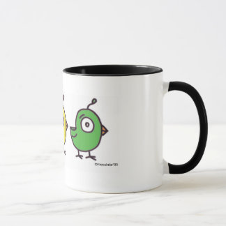 Copo de café pequeno de 3 passarinhos caneca