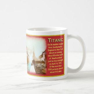 Copo de café titânico novo caneca de café