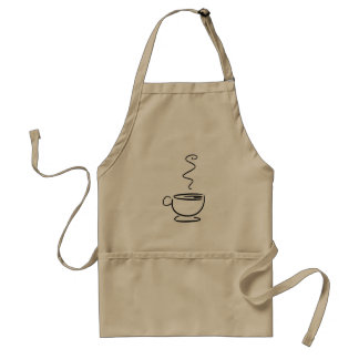 Copo de café uniforme de Barista Avental