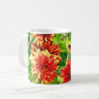 Copo de café vermelho da flor caneca de café