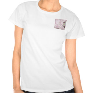 Copo de chá antigo do rosa do rosa no malva t-shirt