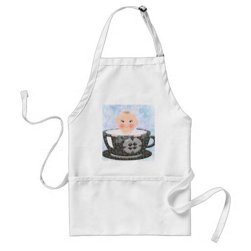 Copo de chá do banho de espuma do bebê aventais
