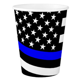 Copo De Papel A bandeira americana dilui Blue Line
