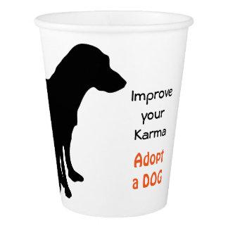 Copo De Papel Adopção do animal de estimação do cão