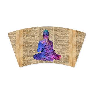 Copo De Papel Arte do dicionário do vintage de Buddha do espaço