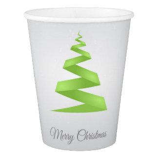 Copo De Papel Árvore de Natal simples da fita do Natal