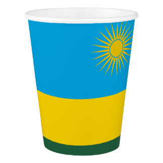 Copo De Papel Bandeira de Rwanda