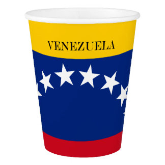 Copo De Papel Bandeira de Venezuela