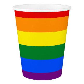 Copo De Papel Bandeira do arco-íris