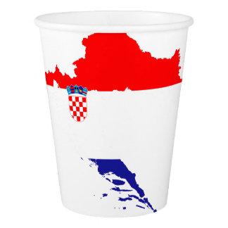 Copo De Papel Bandeira e mapa de Croatia