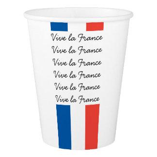 Copo De Papel Bandeira francesa, la France de Vive, partido do