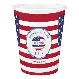 Copo De Papel Bandeira original 4o dos EUA do partido de julho