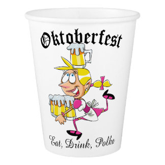 Copo De Papel Barmaid de Oktoberfest