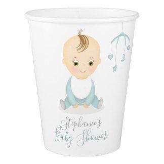 Copo De Papel Bebé bonito e seu chá de fraldas móvel