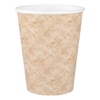 Copo De Papel Branco de pedra de mármore antigo Brown do efeito