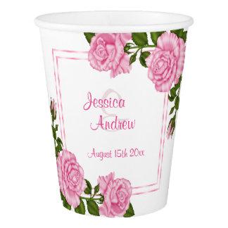 Copo De Papel Buquês de canto cor-de-rosa bonito que Wedding