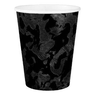 Copo De Papel Camuflagem cinzenta preta e escura de Camo moderno