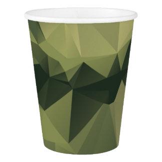 Copo De Papel Camuflagem geométrica verde. Camo seu