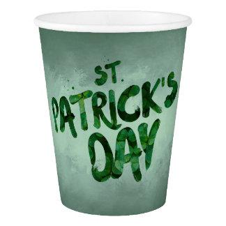 Copo De Papel Céltico verde do irlandês do trevo do Dia de São