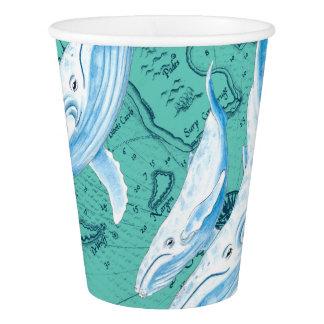 Copo De Papel Cerceta da família das baleias azuis