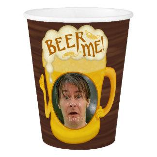 Copo De Papel Cerveja engraçada mim foto personalizada | do