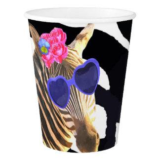 Copo De Papel Chá de fraldas animal da forma da selva da zebra