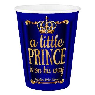 Copo De Papel Chá de fraldas do príncipe Seu Maneira do ouro dos