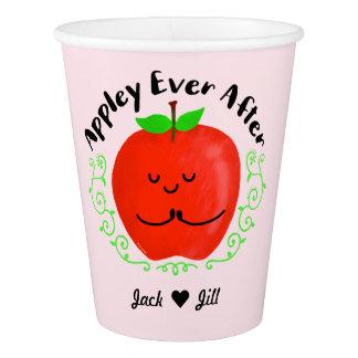 Copo De Papel Chalaça positiva de Apple - Appley sempre em