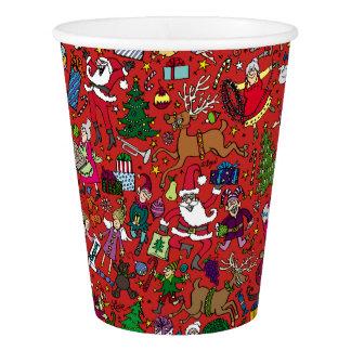 """Copo De Papel Do """"copo de papel da agitação Natal"""""""