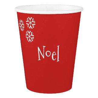 Copo de papel do Natal customizável de Noel