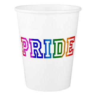 Copo de papel do orgulho do arco-íris, 9 onças