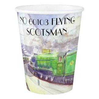 Copo de papel do Scotsman do vôo