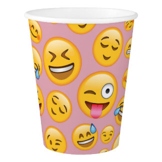 Copo De Papel Do smiley do riso teste padrão alto (lol) de Emoji