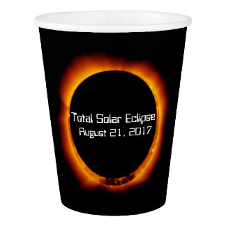 Copo De Papel Eclipse 2017 solar total