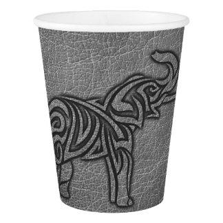 Copo De Papel Elefante tribal de couro