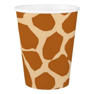 Copo De Papel Encanto animal da selva do fundo do girafa
