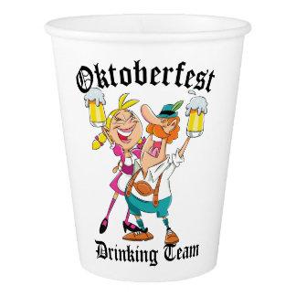Copo De Papel Equipe do bebendo de Oktoberfest