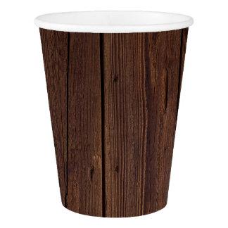 Copo De Papel Estilo country de madeira de madeira escuro