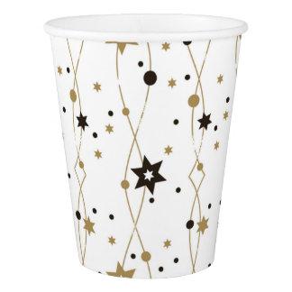 Copo De Papel Estrelas douradas elegantes