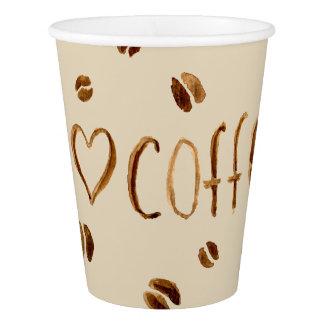 Copo De Papel Eu amo o café
