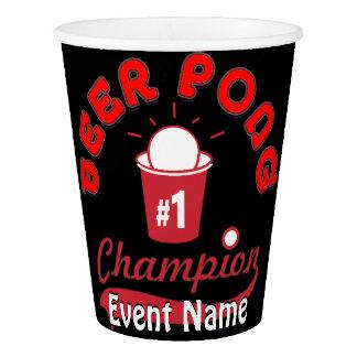 Copo De Papel Feito-à-medida para seu evento de Pong da cerveja!