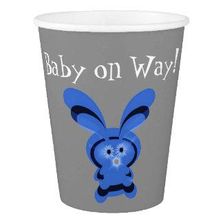Copo de papel feito sob encomenda do bebê azul de