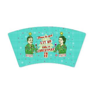 Copo De Papel Feriado adulto retro do bebendo da festa de Natal