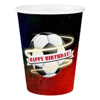 Copo De Papel Festa de aniversário cósmica da bola de futebol