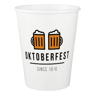 Copo De Papel Festival de Oktoberfest Beerfest desde 1910
