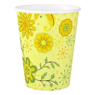 Copo De Papel Flores amarelas bonito