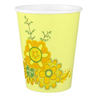Copo De Papel Flores amarelas doces & bonito